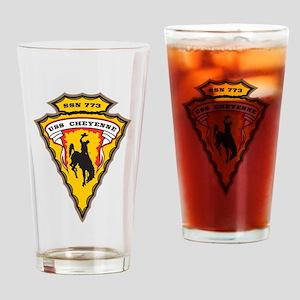 USS Cheyenne SSN 773 Drinking Glass