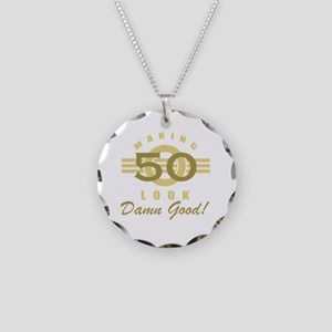 Making 50 Look Good Necklace Circle Charm