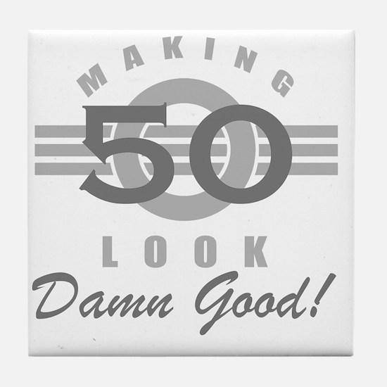 Making 50 Look Good Tile Coaster