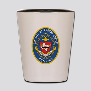 USS City of Corpus Christi SSN 705 Shot Glass