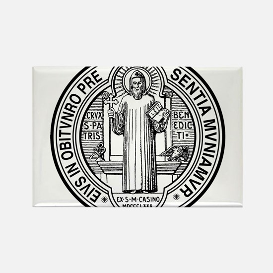 Cute Medal of st. benedict Rectangle Magnet