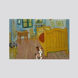 Pets Van  Gogh Room Rectangle Magnet