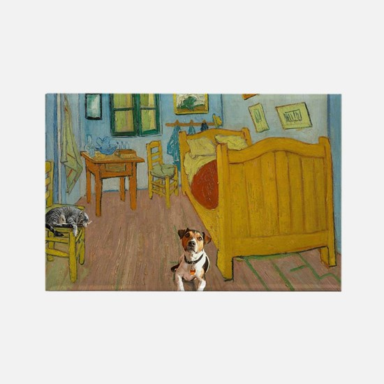 Pets Van  Gogh Room Rectangle Magnet