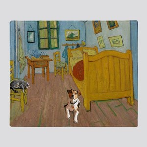 Pets Van  Gogh Room Throw Blanket