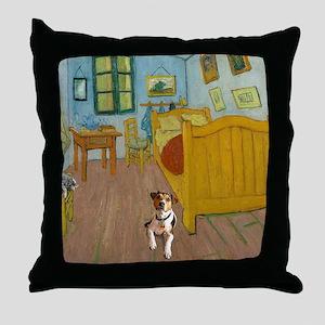 Pets Van  Gogh Room Throw Pillow