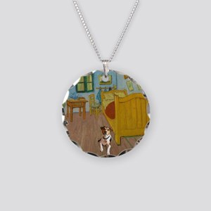 Pets Van  Gogh Room Necklace Circle Charm
