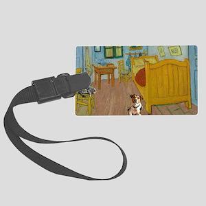 Pets Van  Gogh Room Large Luggage Tag