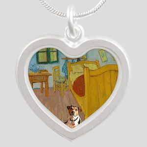 Pets Van  Gogh Room Silver Heart Necklace