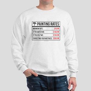 Funny Painting Rates Sweatshirt