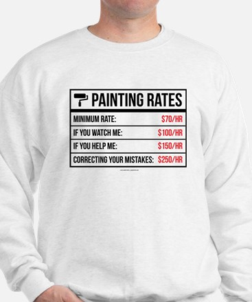 Funny Painting Rates Sweater