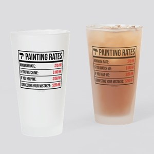 Funny Painting Rates Drinking Glass