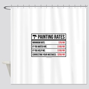 Funny Painting Rates Shower Curtain