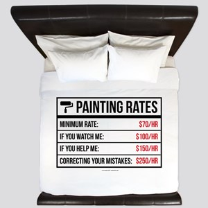 Funny Painting Rates King Duvet