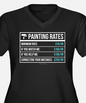 Funny Painting Rates Plus Size T-Shirt