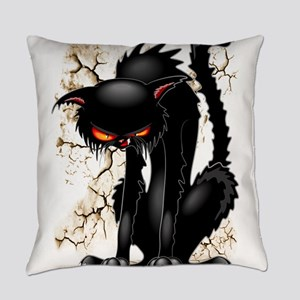 Black Cat Evil Angry Funny Character Everyday Pill