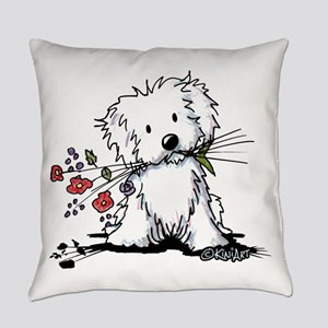Coton de Tulear Gardener Everyday Pillow