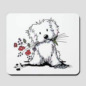 Coton de Tulear Gardener Mousepad