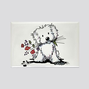 Coton de Tulear Gardener Rectangle Magnet