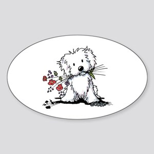 Coton de Tulear Gardener Sticker (Oval)