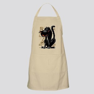 Black Cat Evil Angry Funny Character Light Apron