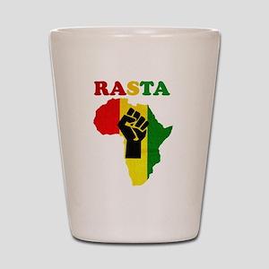 Rasta Black Power Africa Shot Glass