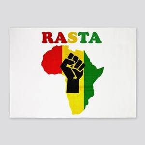 Rasta Black Power Africa 5'x7'Area Rug