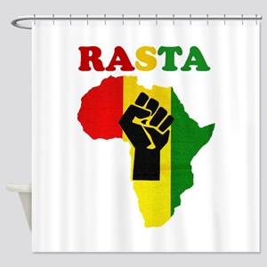 Rasta Black Power Africa Shower Curtain