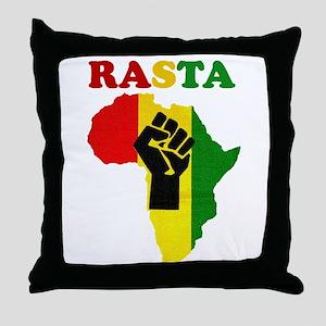 Rasta Black Power Africa Throw Pillow
