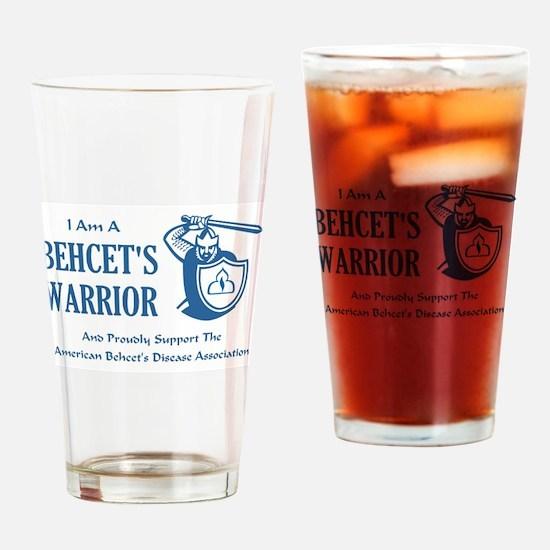 I AM A BEHCETS WARRIOR Drinking Glass
