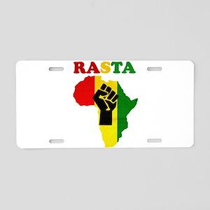 Rasta Black Power Africa Aluminum License Plate