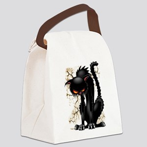 Black Cat Evil Angry Funny Character Canvas Lunch