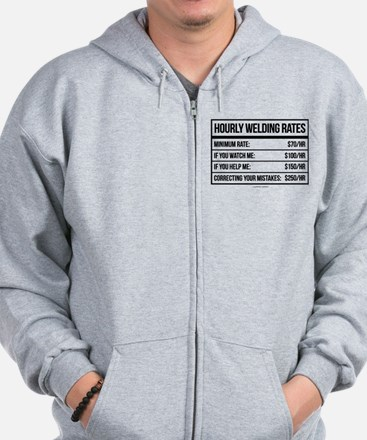 Hourly Welding Rates Zip Hoodie