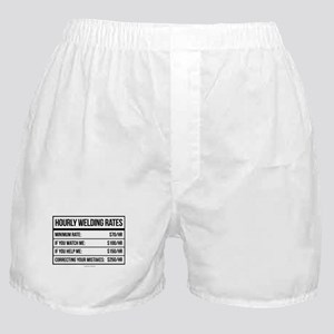 Hourly Welding Rates Boxer Shorts