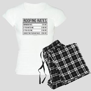 Roofing Rates Humor Women's Light Pajamas