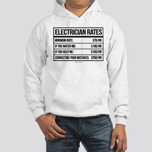 Electrician Rates Humor Hooded Sweatshirt