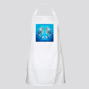 Abstract Blue Peace Sign Apron