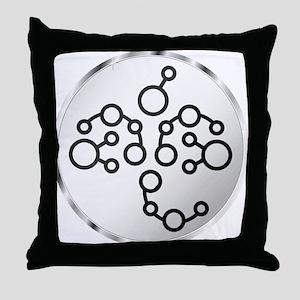 Alien Clock Abstract Throw Pillow