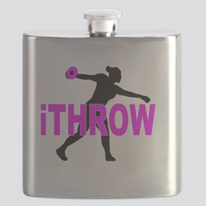 Pink Discus Flask