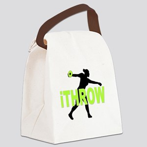 Green Discus Canvas Lunch Bag