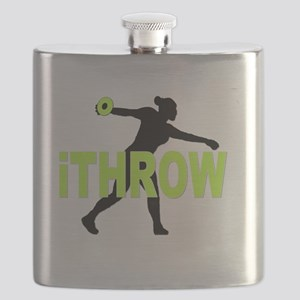 Green Discus Flask