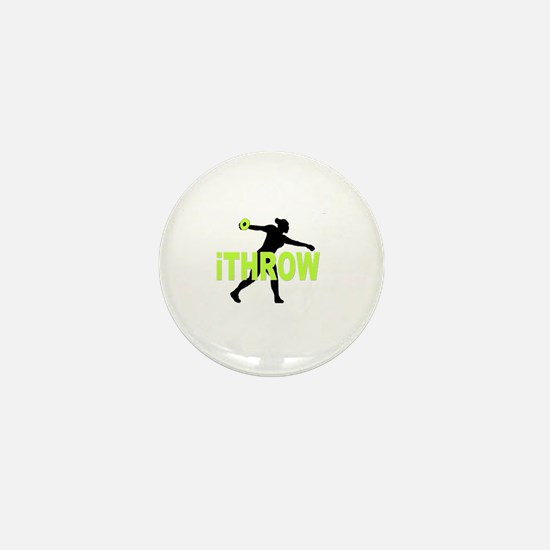 Green Discus Mini Button