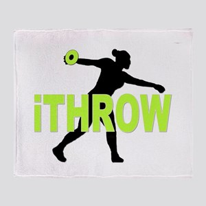 Green Discus Throw Blanket