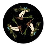 Witches Triangle Round Car Magnet