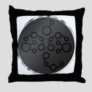 Alien Binary Clock Throw Pillow