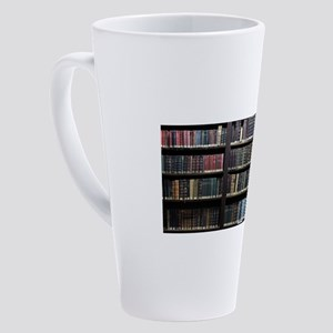 Books on Book Shelf - Gifts for Li 17 oz Latte Mug