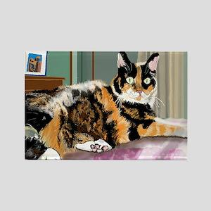 Cali Q Kitten Rectangle Magnet