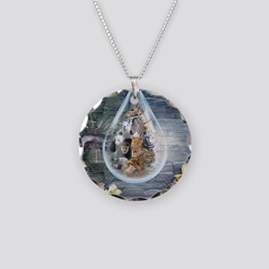 Jungle Drop Necklace Circle Charm