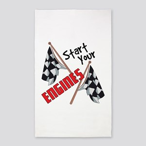 Start Your Engines Area Rug
