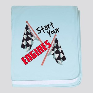 Start Your Engines baby blanket