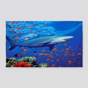 Colorful Shark Area Rug